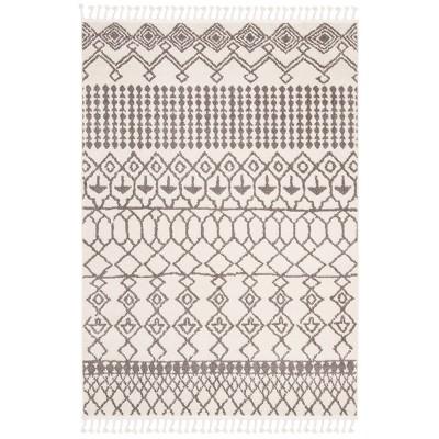 5'x8' Leonora Area Rug Ivory/Gray - Safavieh
