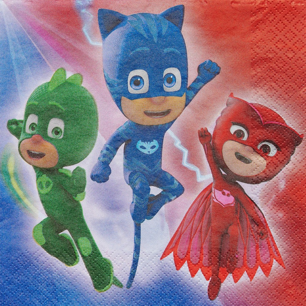 Image of 16ct PJ Masks Disposable Napkins