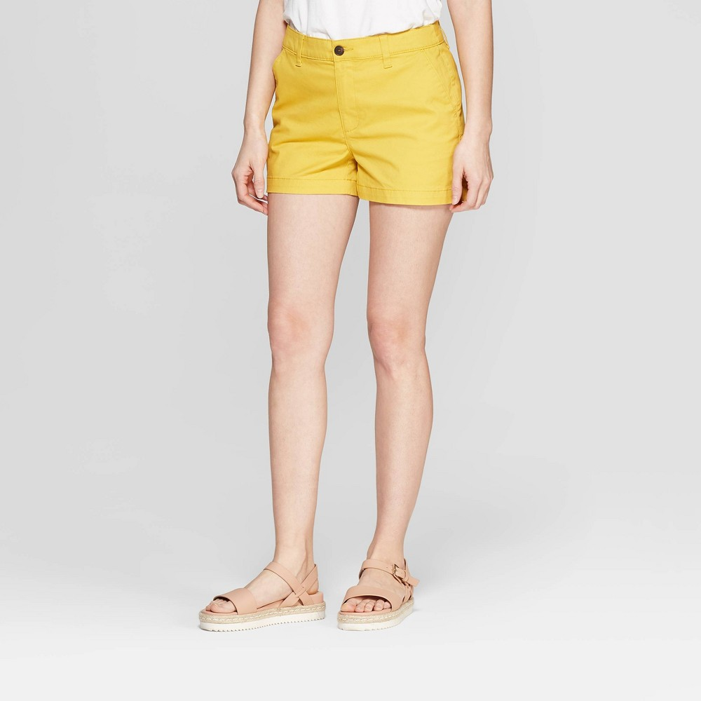 Women's High-Rise Chino Shorts - A New Day Gold 2