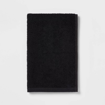 Everyday Solid Hand Towel Black - Room Essentials™