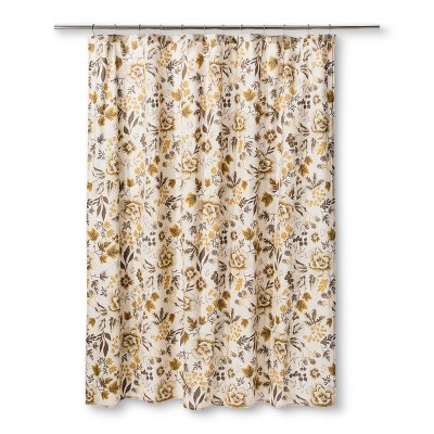 Floral Shower Curtain Sour Cream - Threshold™