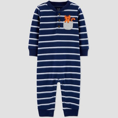 Baby Boys' Tiger Pocket Jumpsuit - Just One You® made by carter's Navy Newborn