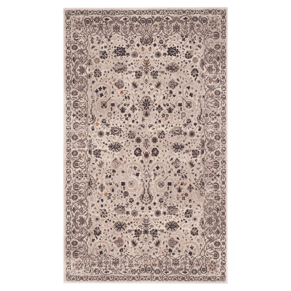 Berkshire Accent Rug - Creme / Brown (3'6