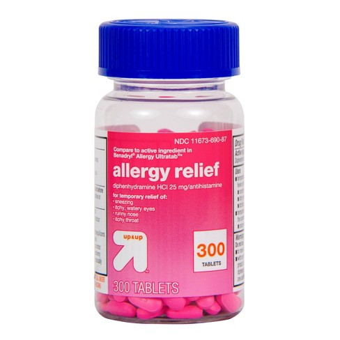 Diphenhydramine Hydrochloride Allergy Relief Tablets - up & up™ - image 1 of 4