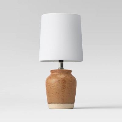 Textural Ceramic Mini Lamp (Includes LED Light Bulb)Rust - Threshold™