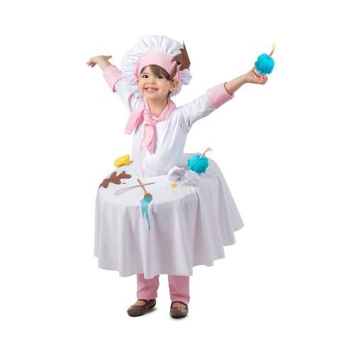 Girls Messy Baker Table Top Halloween Costume