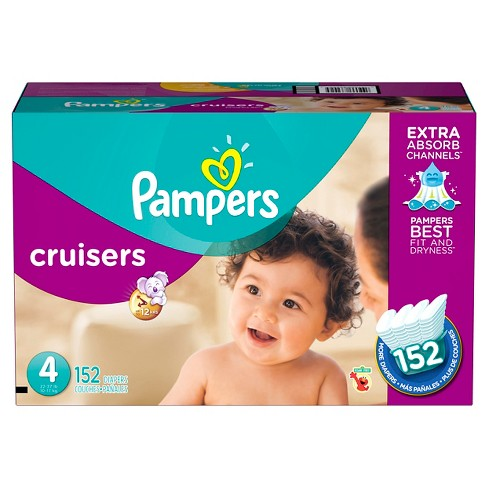 pampers cruisers diapers economy plus pack size 4 152 ct target
