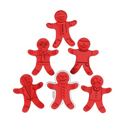 Tovolo Ginger Boy Cookie Cutters White/Red 81-3804