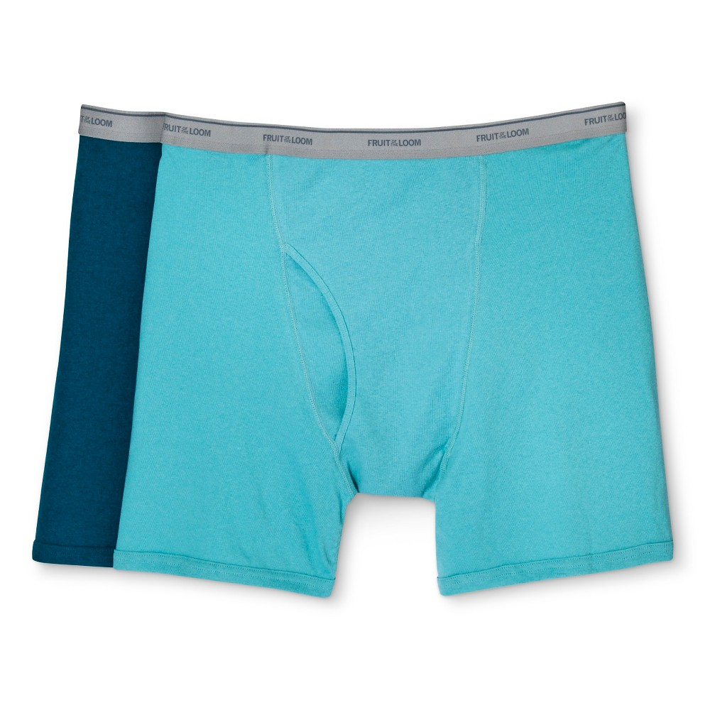 Fruit Of The Loom Men's Big & Tall 2pk Boxer Briefs - Assorted Colors 4XB, Multi-Colored