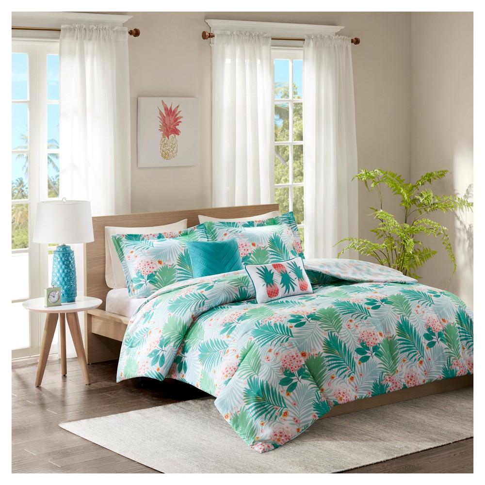 Image of Aqua Sandy Comforter Set (Full/Queen), Blue
