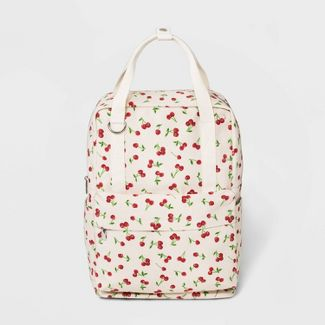 Cherry Print Canvas Square Backpack - Wild Fable™ Cream