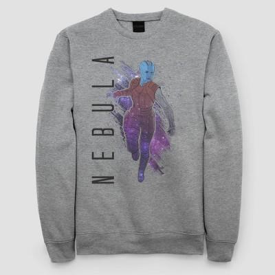 Women's Marvel Nebula Painted Fleece Sweatshirt (Juniors') - Athletic Heather