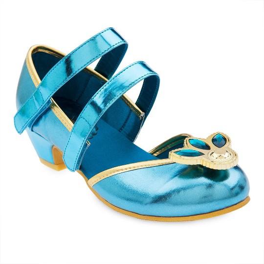 Disney Princess Jasmine Kids' Dress-Up Shoes - Size 2-3, Green image number null