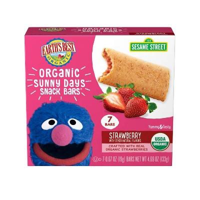 Earth's Best Sesame Street Organic Sunny Days Strawberry Snack Bars - 8ct/0.67oz Each