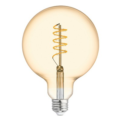 General Electric VintaG40 Globe Spiral Amber LED Light Bulb White