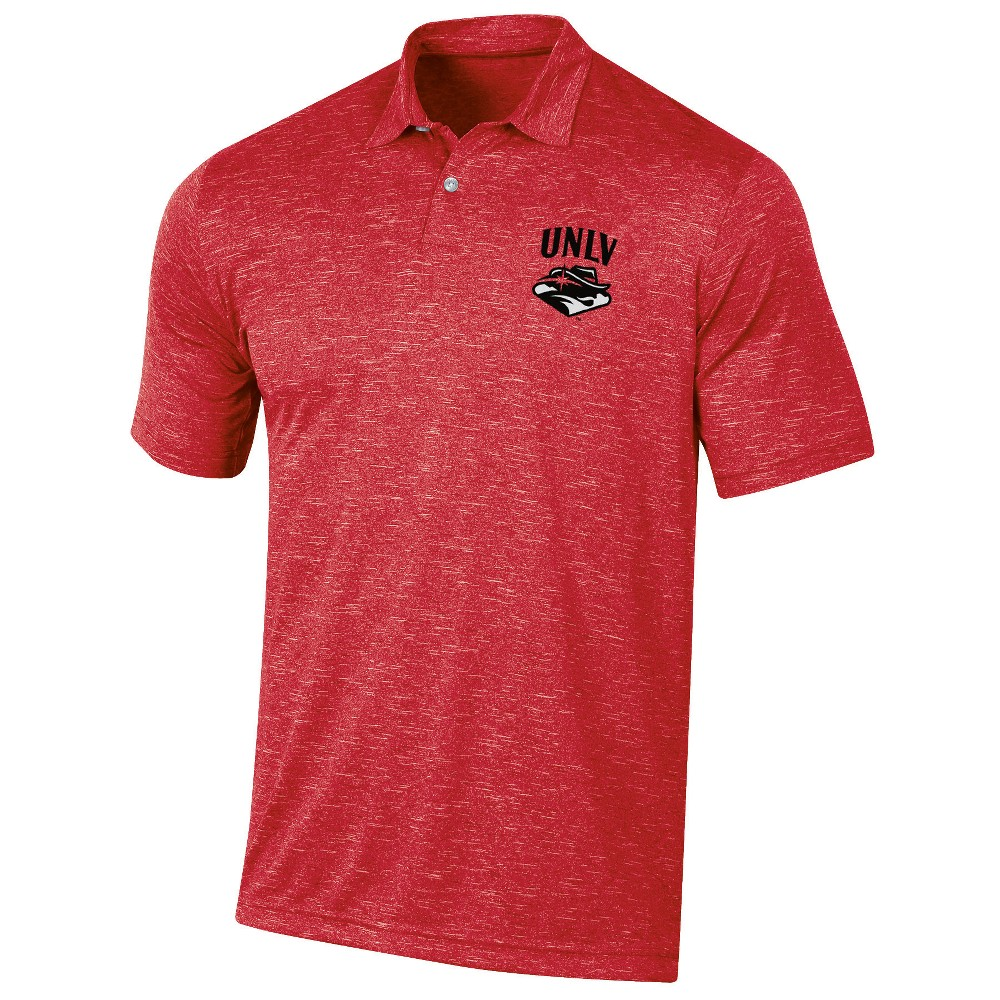 Unlv Rebels Men's Short Sleeve Twisted Jersey Polo Shirt - M, Multicolored