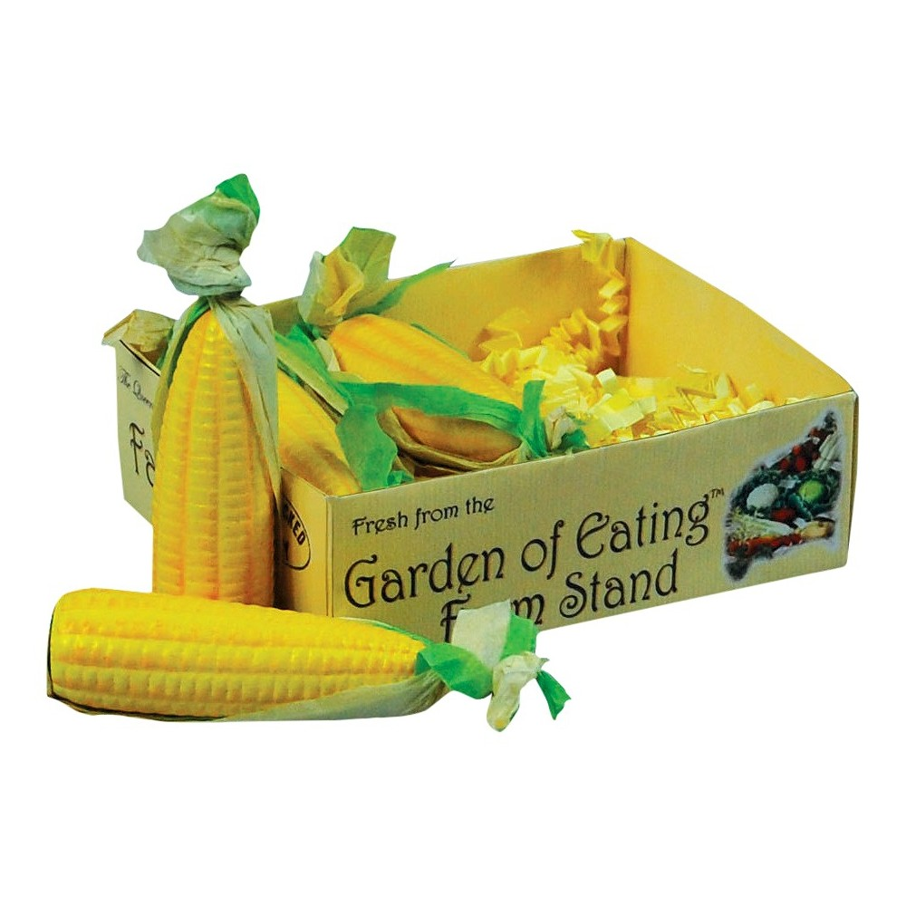 The Queen's Treasures 18 Inch Doll Farm Fresh Food Accessory,4 Ears of Corn on the Cob in Veggie Crate
