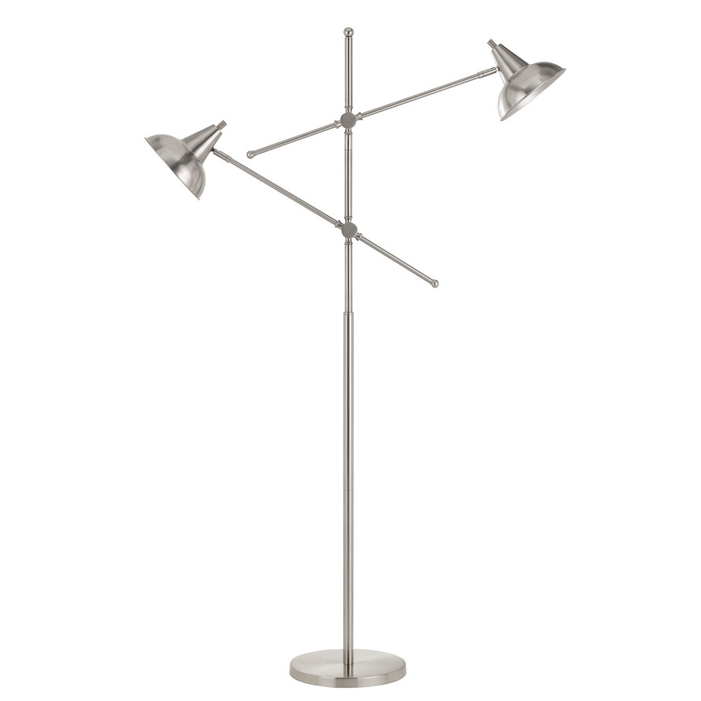60W X 2 Canterbury Metal Adjustable Floor Lamp (Lamp Only) - Cal Lighting, Multi-Colored