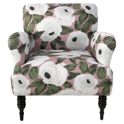 Ezra Chair - Bloomsbury Rose Blush Ivy - Skyline Furniture - image 1 of 4