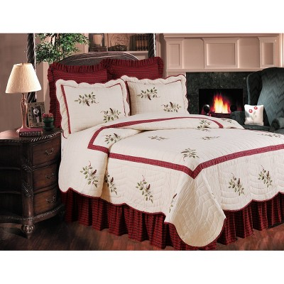 C&F Home Red Plaid Bed Skirt