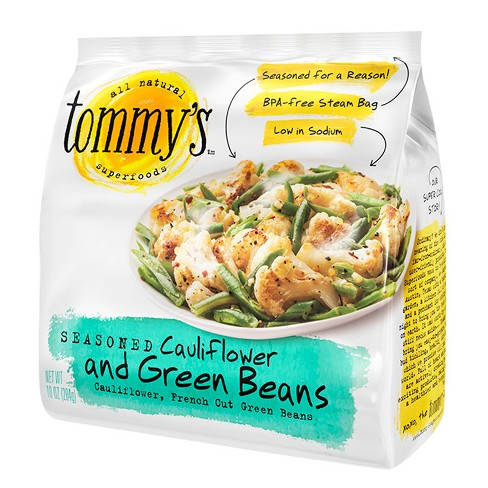 Tommy's Superfoods Seasoned Frozen Cauliflower & Green Beans - 10oz - image 1 of 1