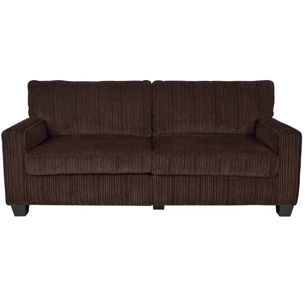 "Image of ""73"""" RTA Palisades Collection Sofa Kingston Brown - Serta"""