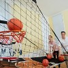 ESPN 2 Player EZ Fold Basketball Game with Polycarbonite Backboard and LED Scoring - Black - image 2 of 4
