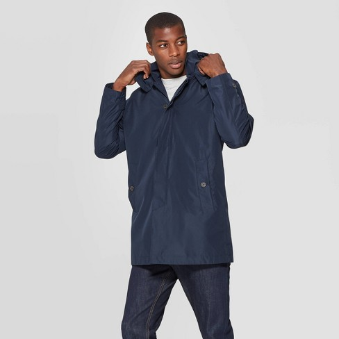 Men's Standard Fit Mackintosh Trench Coat - Goodfellow & Co™ Navy - image 1 of 3