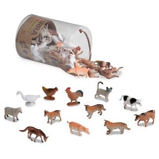 TERRA – Miniature Farm Animals - Assorted Animal Playset (60 pc)