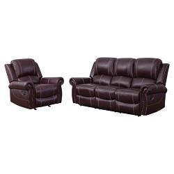 Fabulous 2Pc Lorenzo Top Grain Leather Reclining Sofa Loveseat Set Evergreenethics Interior Chair Design Evergreenethicsorg