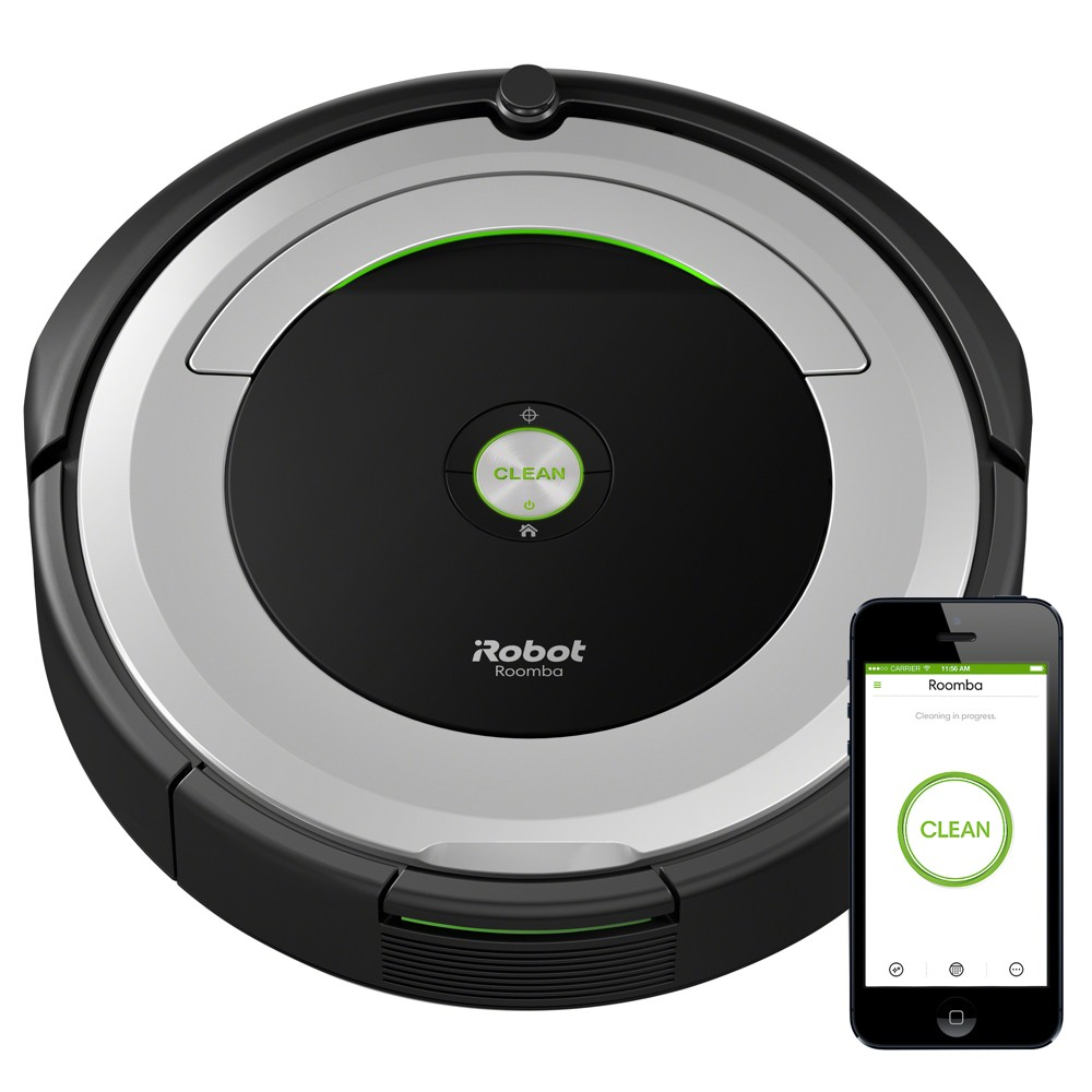 Image of iRobot Roomba 690 Robot Vacuum, Light Silver