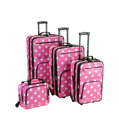 Rockland Galleria 4pc Luggage Set - Pink