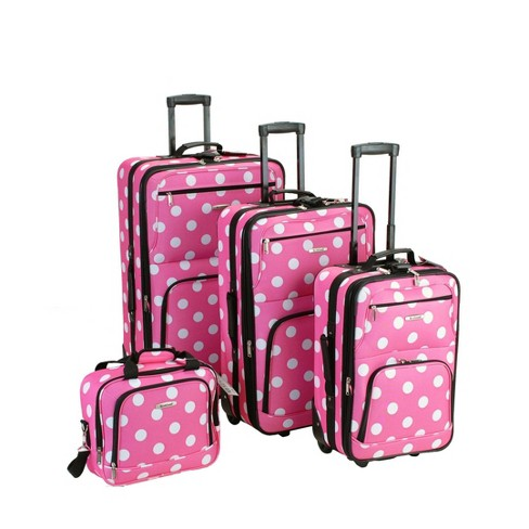 Rockland Galleria 4pc Luggage Set - Pink - image 1 of 2