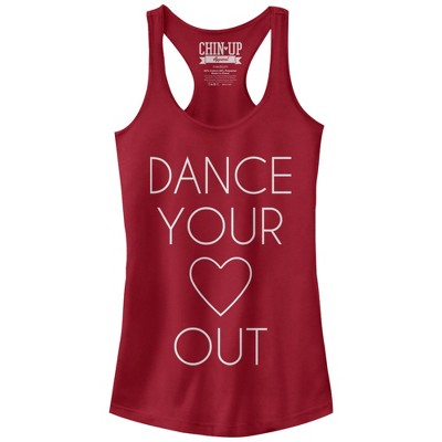 Junior's CHIN UP Dance Your Heart Out Racerback Tank Top