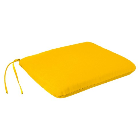 Jordan Square Dining Seat Pad - Yellow - image 1 of 2