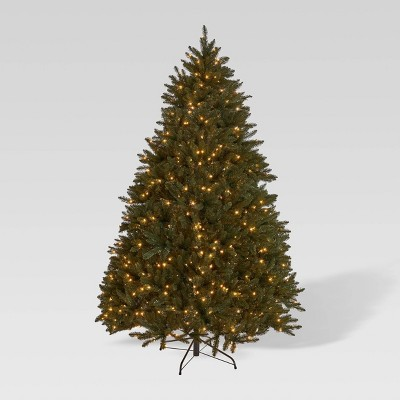 7.5ft Norway Spruce Hinged Full Artificial Christmas Tree Clear Lights - Christopher Knight Home