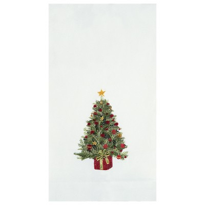 C&F Home Decorated Tree Decorative Guest Towel