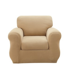 Stretch Pique 3pc Chair Cream - Sure Fit, Ivory