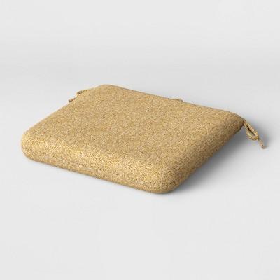"18"" x 17.5"" Cushion Seat Pad Macrame Natural - Project 62™"