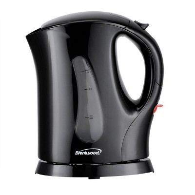 Brentwood 4 Cup 900 Watt Cordless Electric Tea Kettle in Black With Removable Mesh Filter