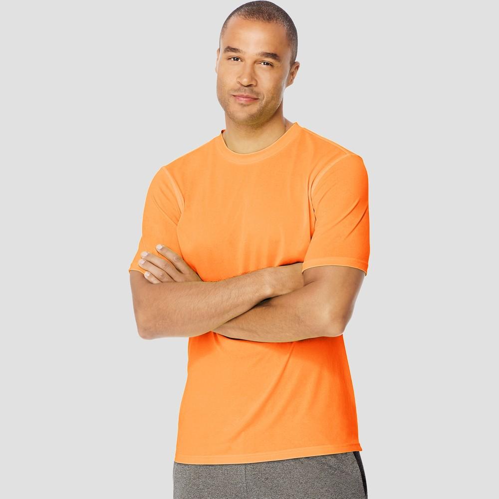 Hanes Sport Mens Endurance Short Sleeve T-Shirt - Orange XL Best
