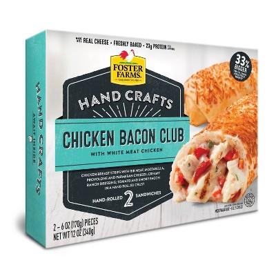 Foster Farms Hand Crafts Chicken Bacon Club Sandwich - 12oz