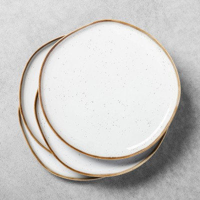 4pk Stoneware Reactive Glaze Dinner Plate Set Sour Cream - Hearth & Hand™ with Magnolia