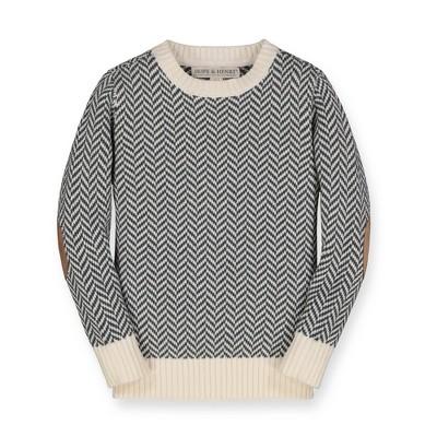 Hope & Henry Infant Boys' Crew Oatmeal Neck Sweater
