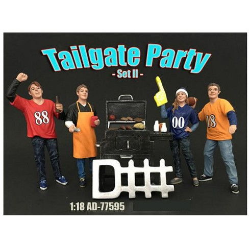 Tailgate Party Set II 4 Piece Figure Set For 1:18 Scale Models by American Diorama - image 1 of 1
