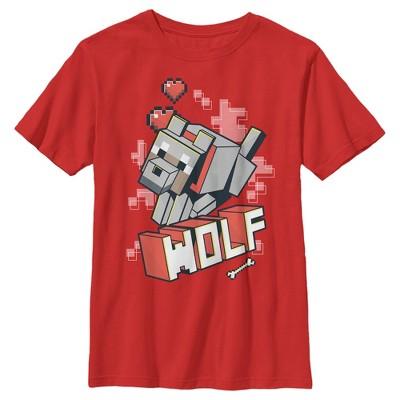 Boy's Minecraft Wolf T-Shirt
