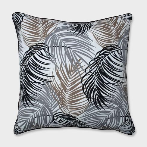 "25"" Setra Stone Floor Pillow Black - Pillow Perfect - image 1 of 2"
