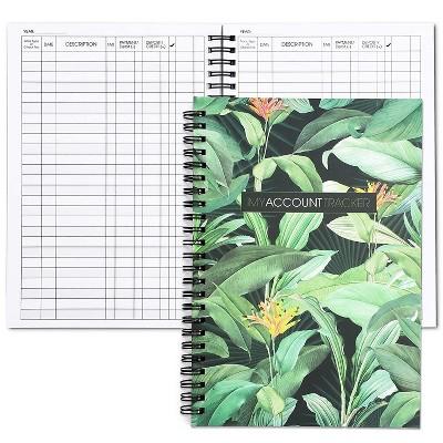 2-Pack Expense Tracker Notebook, Budget Journal Planner Bill Organizer (50-Sheet each), Foliage Green