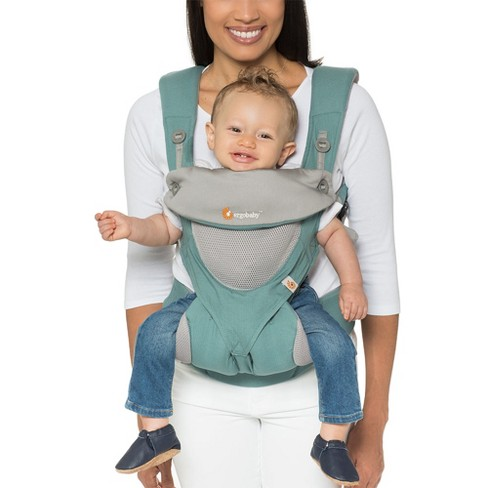 Ergobaby 360 All Carry Positions Ergonomic Cool Air Mesh Baby Carrier - Icy Mint - image 1 of 8