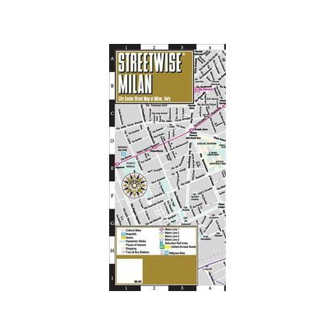 Streetwise Milan : City Center Street Map Of Milan, Italy (Paperback ...